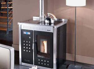 klover pellet boiler and cooker compact