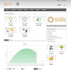 Solis monitoring portal